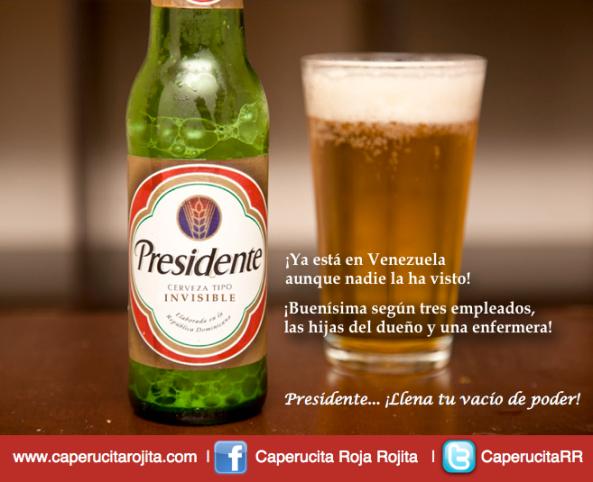 Cerveza Presidente Chavez